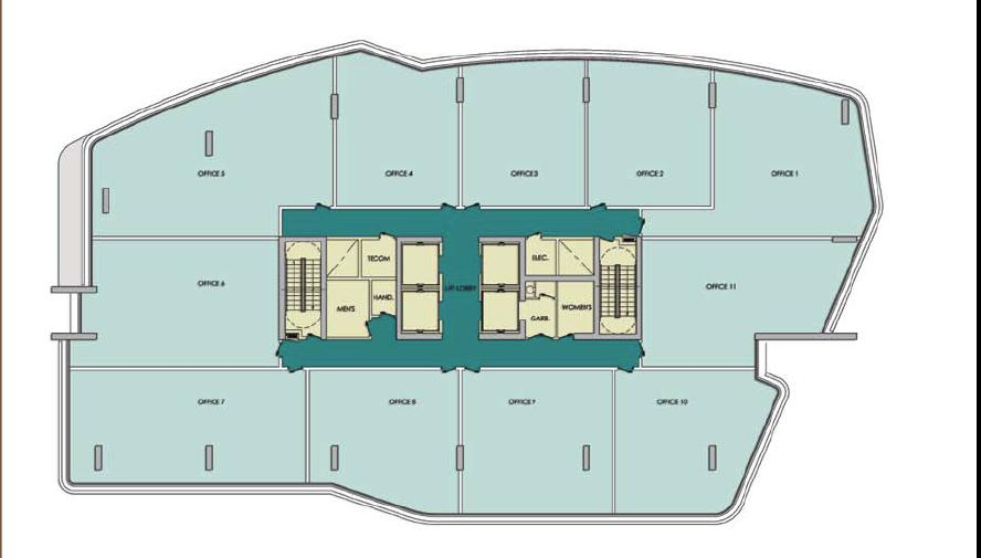 The concourse 2 jumeirah village dubai overseas for Typical office floor plan