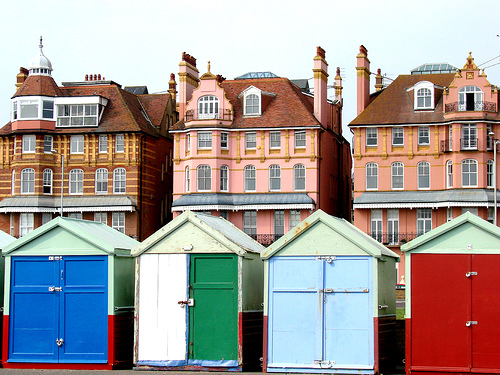 Beach Huts on Brighton & Hove