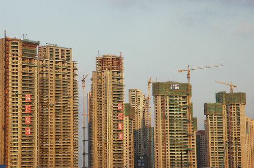 High-rise apartment blocks in Shanghai