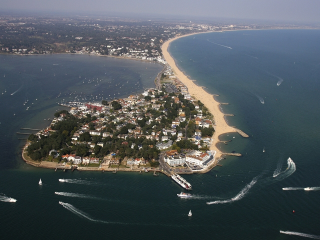 Sandbanks, Doset Ariel View