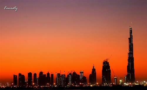 Burj Dubai at Sunset