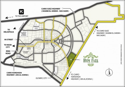 hyde-park-cairo-location-map