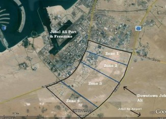 Jebel Ali map