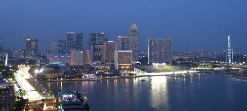 Marina Bay Singapore Skyline F1 Grand Prix