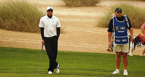 Tiger Woods in Dubai Desert Classic