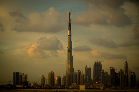 Burj Dubai in the evening