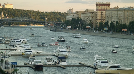 Yachts in Moscow