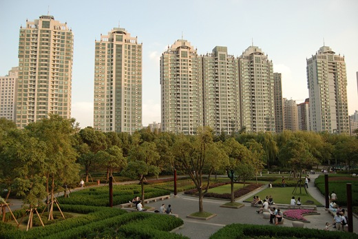 Apartment Blocks in Xu Jia Hui Garden China