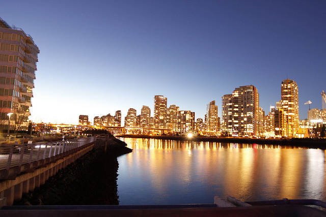 Vancouver City, Canada at Twilight