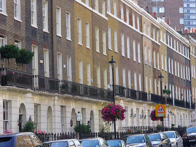 Row of Homes on Albion Street, London W2