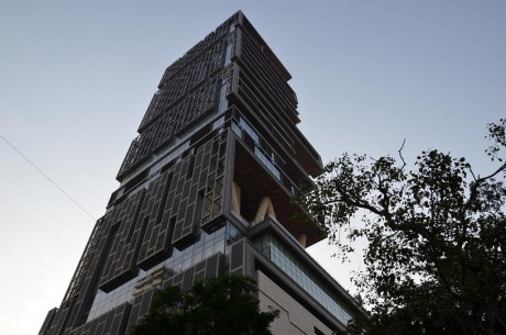 most expensive home in the world - full view of antila residence mumbai