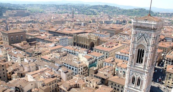 aerial shot of Florence
