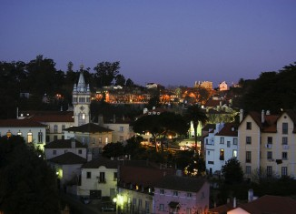Lisbon Skyline at Nighttime
