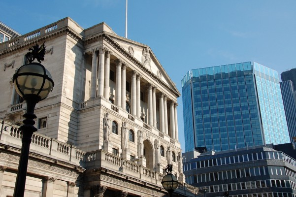 The Bank of England and another building from the City