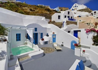 Cave house in Santorini